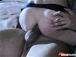 Anya Olsen penalized with rigid trouser snake in her cock-squeezing babe pot after smacking