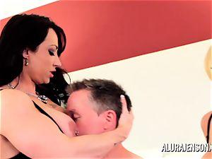 cougar detective Alura Jenson 3some hump