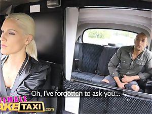 female faux cab immense black rod creampie