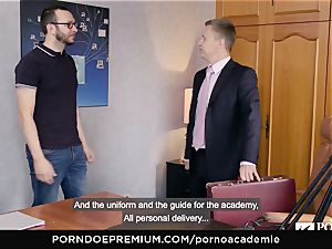 porn ACADEMIE Lana Rhoades likes nailing French man-meat