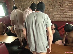 Michelle Thorne and youthfull breezy group sex nail with group
