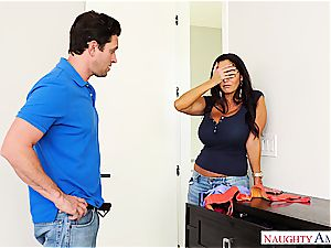 supah huge-titted cougar Ava Addams rails his man meat into oblivion