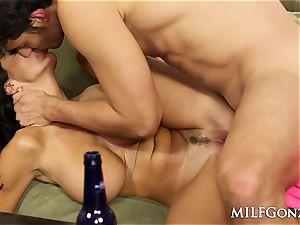 MILFGonzo Ava Adams deep throats and penetrates her sons-in-law acquaintance