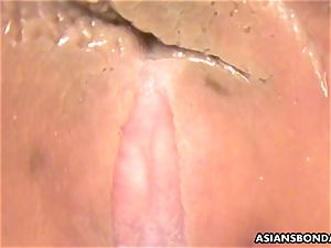 asian sweety gets toyed by the camera fuck stick