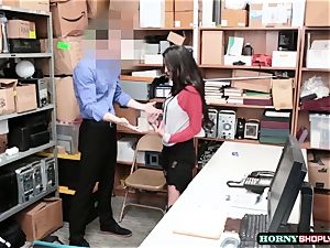hot Latina Sophia Leone gets her coochie pulverized by officers phat spear so rock hard