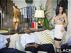 brown-haired Adriana Chechik takes trio of bbc