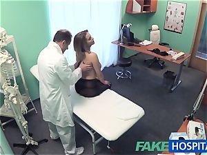 FakeHospital big cupcakes babe has a back problem