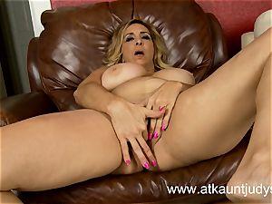 huge-titted Mature Sophia bean gets naughty