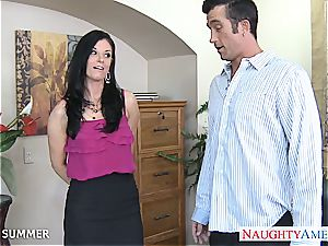 India Summer looks luxurious in high stilettos getting boinked