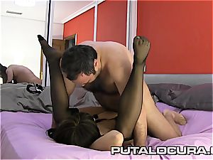 killer French babe poked by a ample fellow
