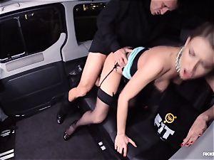 humped IN TRAFFIC - stellar Russian doll super hot car plumb