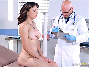 Cytherea is left spraying as she visits the medic