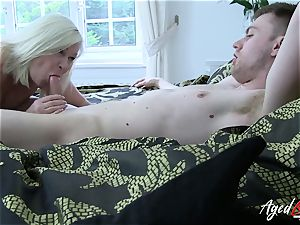 AgedLovE gonzo with warm Mature Lacey Starr