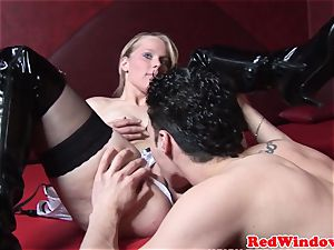 Real amsterdam hooker pussylicked and plumbed
