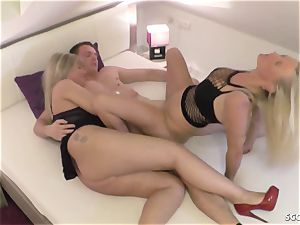 GERMAN STEP mummy sloppy TINA AND aunt-in-law plumb son-in-law AND cum exchange
