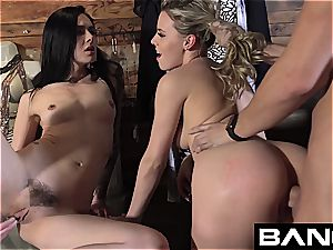 penetrate Confessions:Aubrey 3some pound in Dressing room
