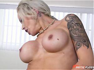 warm bootie platinum-blonde Nina Elle slammed in her minge