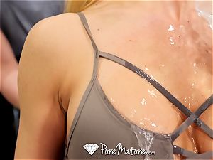 PUREMATURE Sexual instructing gym shag with milf