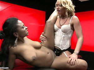 rough Kathia Nobili thrusts her rope on pink cigar deep down her fucking partner throat