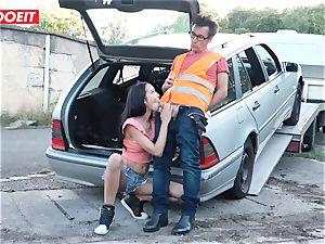 LETSDOEIT - teenage screws aged stud For Free Car Repair