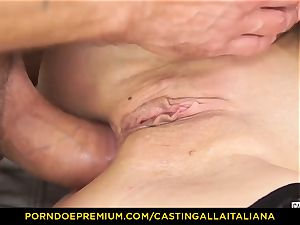 audition ALLA ITALIANA - Blue-eyed gal gets ass porked