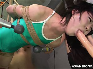 japanese trussed up to be sexually tormented by some freaks
