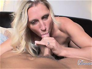 Devon Lee is enjoying her man's whip tucked in her appetizing facehole