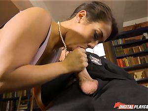 Headmistress Eva Lovia plays with her kinky student
