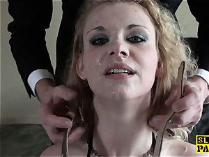 brit bondage & discipline gimp analed before cuminmouth