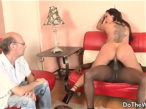 super hot cougar pornstar takes ginormous dark-hued chisel for spouse