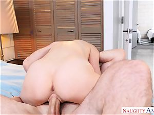 super-sexy Haley Reed railing on top