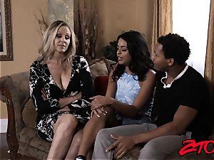 milf Julia Ann shares thick big black cock with Latina stunner