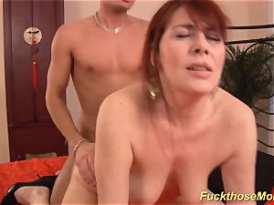 red-haired stepmom need a intense fuckpole