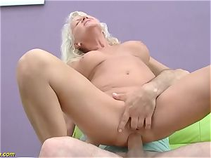 handsome 73 years elderly mom very first ample prick ass-fuck pummel