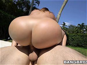 fat backside Julianna Vega humped in the pool