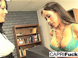 Capri Cavanni and Zoey Holloway bang