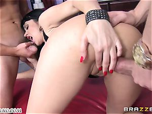 buzzed cougar Eva Karera with huge udders indulges on the soiree
