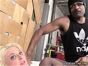 Leya Falcon Gets butt-banged By A strung up dark-hued guy