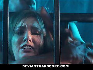 DeviantHardcore - caged cockslut Gets dominated By big black cock