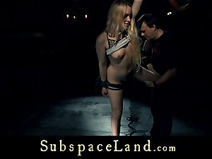 gimp lady blond pleasured and penalized in subordination