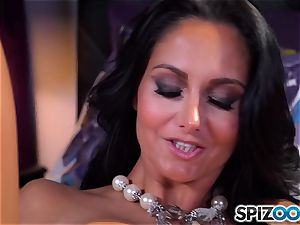Ava Addams extracts her ample bosoms
