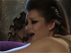 Dani Daniels implementing cogs and penises in her steampung desire
