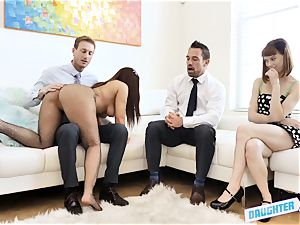 buddies swap and penetrate daddy