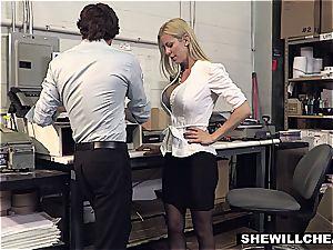 SheWillCheat - buxom milf boss boinks new worker