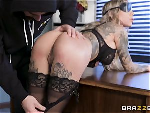 Karma Rx takes cunt drilled in the office
