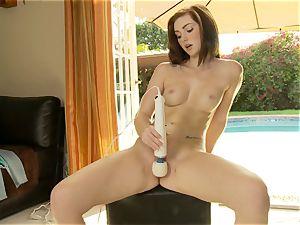 seductive Natalie eagerness vibes her moist vulva