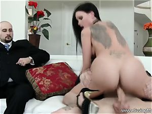 Exotic Swinger wifey pokes Another man