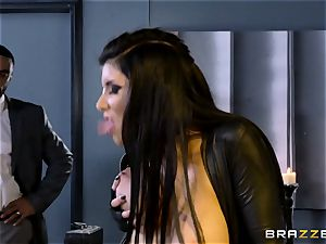 exclusive agent Romi Rain gets labia deep with the boss