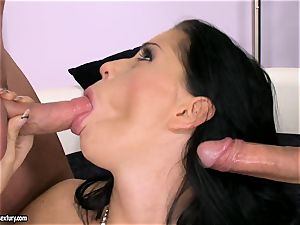pipe hungering superslut Larissa Dee is sucking one pillar at a time with delight