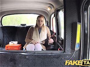 fake taxi Nurse in wondrous lingerie has car sex